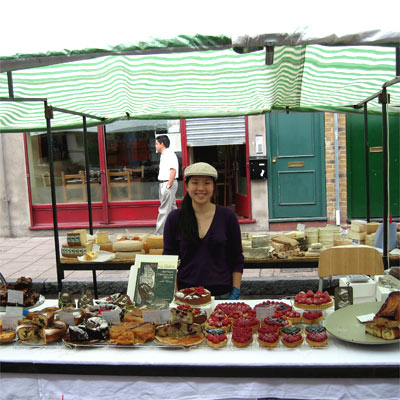 the Coco&Me stall at Broadway Market, Hackney, London, UK