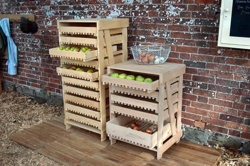 Beech Ten Drawer Apple Rack