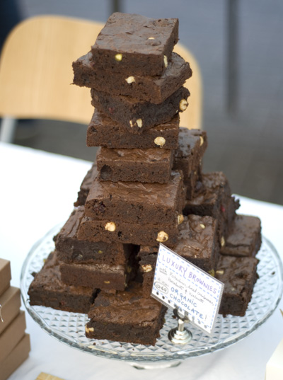 Coco&#038;Me - stack of brownies at Broadway Market