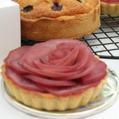 www.cocoandme.com - rose tart & cherry clafoutis - Coco&Me