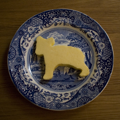 Coco&#038;Me - Homemade butter in a shape of a bear (molded)  - www.cocoandme.com