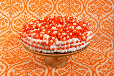 Amy Stevens art cake white orange www.cocoandme.com Coco&amp;Me coco and me