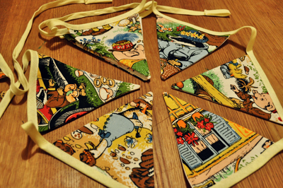 www.cocoandme.com - Coco&amp;Me - coco and me - bunting with woodland animals - small