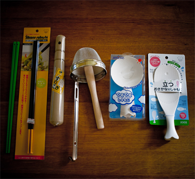 www.cocoandme.com - Coco&Me - Coco and Me -  Japanese Kitchenware silicone cooking chopsticks miso stirrer rice scoop surikogi stick